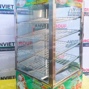 Tủ hấp nóng trưng bày bánh bao mini cao cấp 4 tầng - An Việt