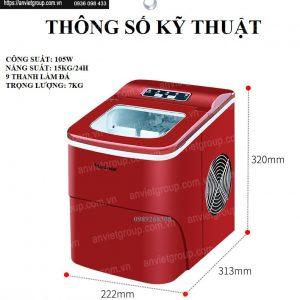Máy làm đá viên đá bi mini Watoor WZB-16H An Việt